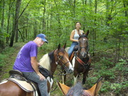 Prize's 1st trail ride and camping trip