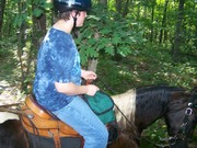 Thomas's first trailride at the Why Not Ranch!!!   6-13-2010 004