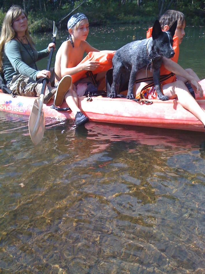 Zombie ,The Boys,And I floating the Buffalo