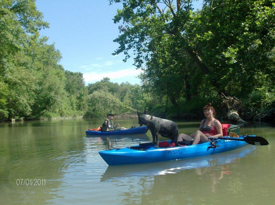 SOT kayaks at Many Cedars