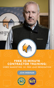 Free 30-Minute Contractor Training: Video Marketing 101 for Lead Generation