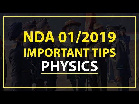 NDA Exam 01/2019 Important Tips – Physics