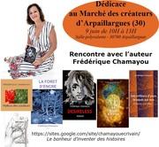 Dédicace au Marché des créateurs d'Arpaillargues (France-Gard)