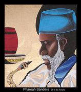 pharoah Sanders painting