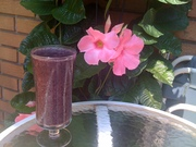 Banana wild blueberry smoothie