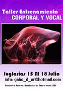 Flyer Cuerpo y Voz Magenta