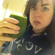 Nothing like a green smoothie for breakfast.