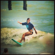 My first contest in surfing