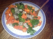 Papaya, dragon fruit & parsley salad