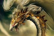 Quetzalcoatl Golden Dragon God