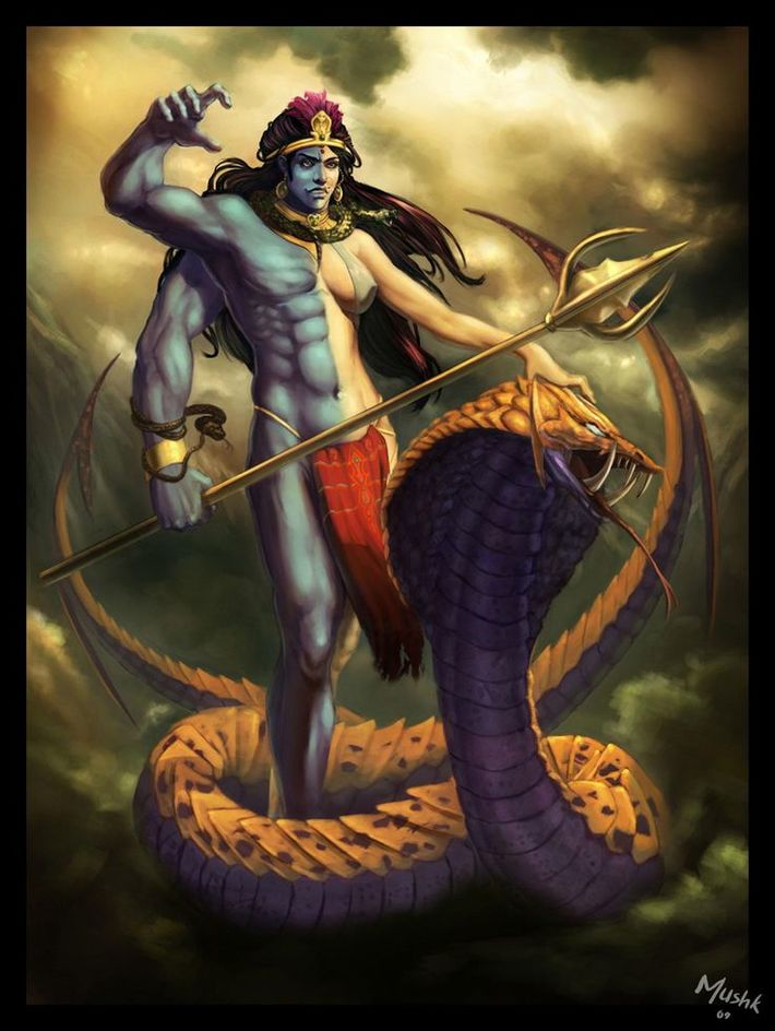 Angry Lord Shiva