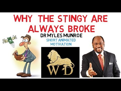 WHY GIVING MORE IS THE ONE THING YOU NEED RIGHT NOW By Apostle Dr Myles Munroe