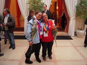 Special Olympics homecoming event at the residence