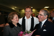 Lotti with Amb. and Mrs. Fox at the American Theatre