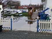 Ludington Yacht Club today, in full sink mode.