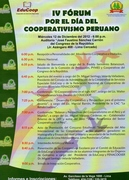 IV FORUM POR EL DIA DEL COOPERATIVISMO PERUANO