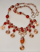 Carnelian & Copper Necklace
