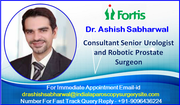 Dr. Ashish Sabharwal Offers Advanced Urologic Care in India