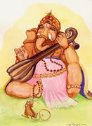 Ganesha_with_Tanpura