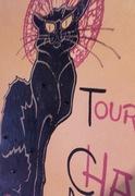 shabby chic art nouveau pussy cat