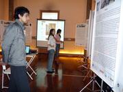 Visitantes da CODESP participando da Exposição-Oficina