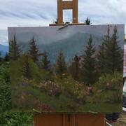 on the easel at Roan