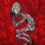 -Die Stille-Acryl,Strukturpaste auf Leinwand,100 x 100 cm