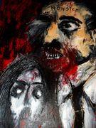 Soul Monster Acryl auf Karton 100 x 70 cm