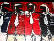 We stick together  We offenders  Acryl auf Tuch 160 x 125 cm