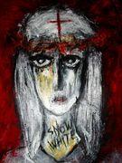 Snow White  Acryl auf Karton 100 x 70 cm