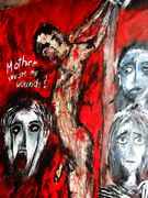Mother  You see my Wounds  acryl auf Tuch 160 x 133 cm