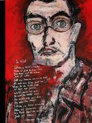 In the fog  Hermann Hesse  Acryl auf Karton 70 x 50 cm