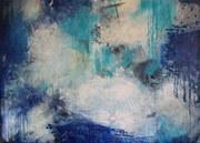 """Wolke 7"", Acryl auf LW, 100 x140 cm"