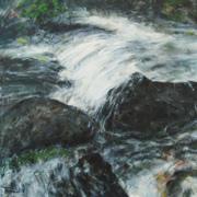 Schwarzwaldbach III (Fluss) 100x100
