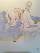 Zwei Akte auf dem Bett