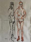Zwei weibliche Akte