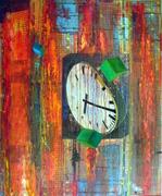 Raum  Zeit  Materie, Acryl Collage auf Leinwand, 2014