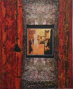 Raum  Zeit  Materie, Acryl Collage auf Leinwand, 2015