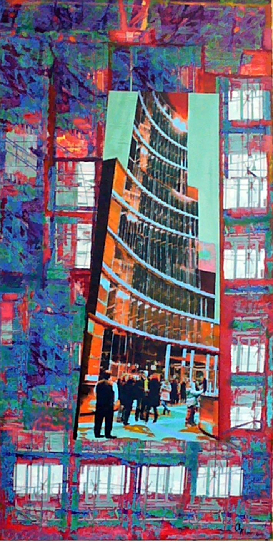 Blick ins ....., Acryl  Collage auf Leinwand, 2015, Christoph Klein