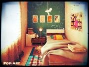 dormitorio popart