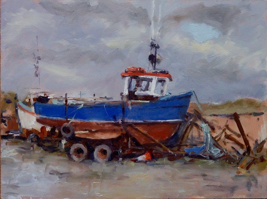 'Fresh Paint'. Rosslare Lagoon. 15.01.12.
