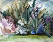 Marlay garden. Watercolours, papir, 50x40, 30.08.16.