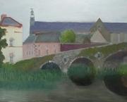 Graiguenamanagh Bridge and roofscape