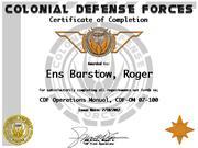 CDF Certificates
