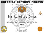 Ens James Lavalle RTM Cert