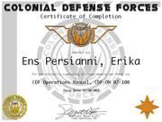 Ens Erika Persianni Ops Cert