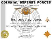 Ens James Lavelle VTM Cert