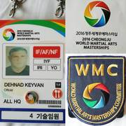 2016 Cheongju World Martial Arts Masterships Organizing Committee member Dr DEHNAD