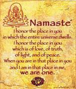 Namaste, We are One