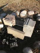 fire pit as a grill